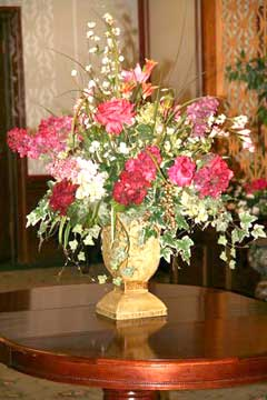 Flower vignette, Interior Decorator MA